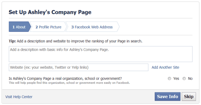 Facebook Step 4